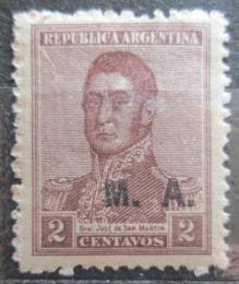 Poštovní známka Argentina 1920 Jose de San Martin pøetisk SC# OD17