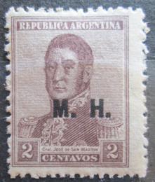 Poštovní známka Argentina 1920 Jose de San Martin pøetisk SC# OD118