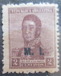 Poštovní známka Argentina 1918 Jose de San Martin pøetisk SC# OD155