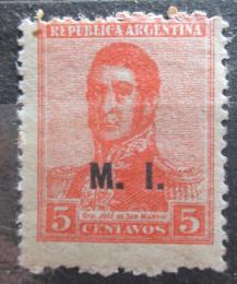 Poštovní známka Argentina 1918 Jose de San Martin pøetisk SC# OD156