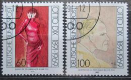 Poštovní známky Nìmecko 1991 Umìní, Otto Dix Mi# 1572-73