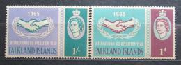 Poštovní známky Falklandské ostrovy 1965 Mezinárodní spolupráce Mi# 151-52 13€