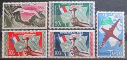 Poštovní známky Togo 1959 Rùzné motivy TOP SET Mi# 261-65 Kat 25€