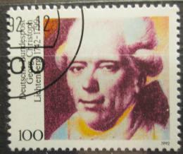 Poštovní známka Nìmecko 1992 Georg Lichtenberg, fyzik Mi# 1616