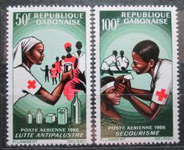 Poštovní známky Gabon 1966 Èervený køíž Mi# 236-37
