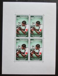 Poštovní známky Gabon 1966 Èervený køíž Mi# Block 5 Kat 14€