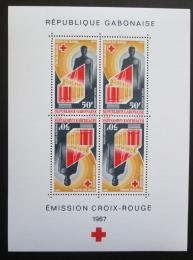 Poštovní známky Gabon 1967 Gabonský èervený køíž, 20. výroèí Mi# Block 6 Kat 9€