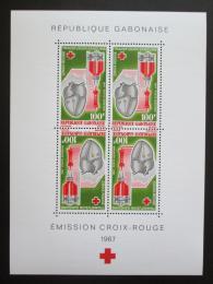 Poštovní známky Gabon 1967 Gabonský èervený køíž, 20. výroèí Mi# Block 7 Kat 16€