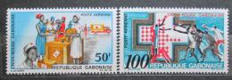 Poštovní známky Gabon 1968 Èervený køíž Mi# 306-07