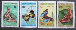 Poštovní známky Gabon 1971 Motýli TOP SET Mi# 434-37 Kat 28€