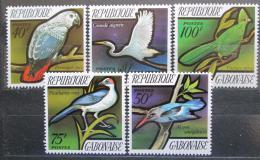 Poštovní známky Gabon 1971 Ptáci TOP SET Mi# 448-52 Kat 20€