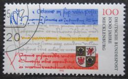 Poštovní známka Nìmecko 1995 Mecklenburg milénium Mi# 1782