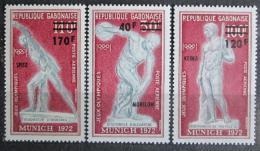 Poštovní známky Gabon 1972 LOH Mnichov pøetisk Mi# 489-91