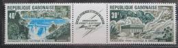 Poštovní známka Gabon 1973 Pøehradní nádrž Mi# 507-08