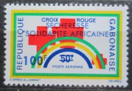 Poštovní známka Gabon 1973 Èervený køíž pøetisk Mi# 513