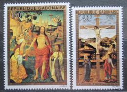 Poštovní známky Gabon 1975 Umìní, velikonoce Mi# 554-55