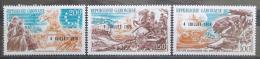 Poštovní známky Gabon 1976 Americká revoluce pøetisk Mi# 594-96