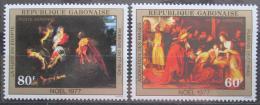 Poštovní známky Gabon 1977 Umìní, velikonoce Mi# 614-15