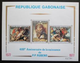 Poštovní známky Gabon 1977 Umìní, Rubens Mi# Block 32