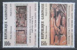 Poštovní známky Gabon 1979 Velikonoce, døevoøezby Mi# 694-95