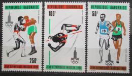 Poštovní známky Gabon 1980 LOH Moskva Mi# 733-35