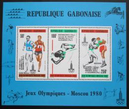 Poštovní známky Gabon 1980 LOH Moskva pøetisk Mi# Block 40 Kat 8.50€