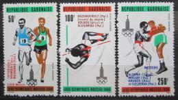 Poštovní známky Gabon 1980 LOH Moskva pøetisk Mi# 746-48