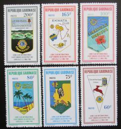 Poštovní známky Gabon 1981 Znaky klubù Lions Mi# 769-74 Kat 9€