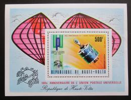 Poštovní známka Horní Volta 1974 UPU, 100. výroèí pøetisk Mi# Block 28