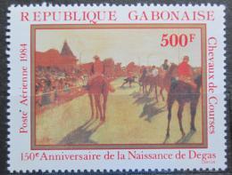 Poštovní známka Gabon 1984 Umìní, Edgar Degas Mi# 898 Kat 8€