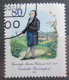 Poštovní známka Nìmecko 1983 Christoph Wieland, básník Mi# 1183