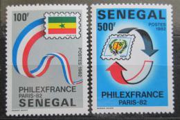 Poštovní známky Senegal 1982 Výstava PHILEXFRANCE Mi# 789-90 Kat 5.50€