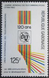 Poštovní známka Gabon 1985 Svìtový den telekomunikace, ITU Mi# 935