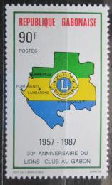 Poštovní známka Gabon 1987 Lions Intl. Mi# 990