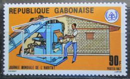 Poštovní známka Gabon 1987 Stavba domu Mi# 994