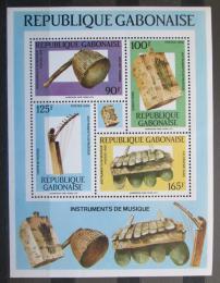 Poštovní známky Gabon 1988 Hudební nástroje Mi# Block 59