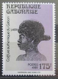 Poštovní známka Gabon 1989 Tradièní úèes Mi# 1049