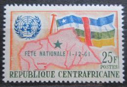 Poštovní známka SAR 1961 Vlajka a mapa pøetisk Mi# 21