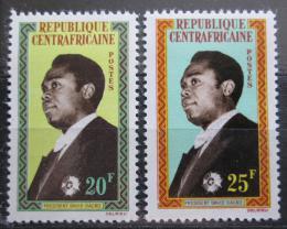 Poštovní známky SAR 1962 Prezident David Dacko Mi# 28-29