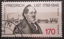 Poštovní známka Nìmecko 1989 Friedrich List, ekonom Mi# 1429