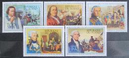 Poštovní známky Èad 1976 Americká revoluce, 200. výroèí Mi# 736-40 Kat 9.50€
