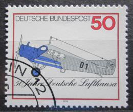 Poštovní známka Nìmecko 1976 Junkers F 13 Mi# 878