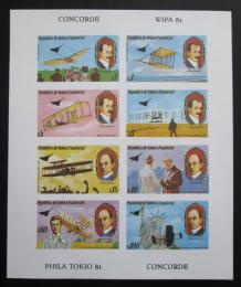Poštovní známky Rovníková Guinea 1981 Historie letectví neperf.