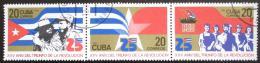 Poštovní známky Kuba 1984 Vítìzství revoluce, 25. výroèí Mi# 2816-18