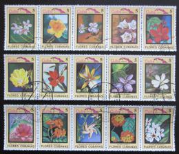 Poštovní známky Kuba 1983 Kvìtiny Mi# 2778-92