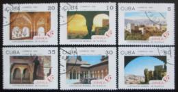 Poštovní známky Kuba 1992 Alhambra, Granada Mi# 3571-76