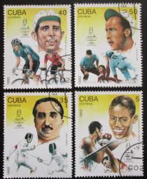 Poštovní známky Kuba 1992 LOH Barcelona Mi# 3597-3600