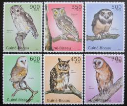 Poštovní známky Guinea-Bissau 2010 Sovy Mi# 5049-54 Kat 14€