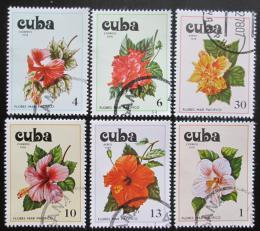 Poštovní známky Kuba 1978 Kvìtiny Pacifiku Mi# 2356-61
