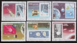Poštovní známky Kuba 1977 Start Sputniku Mi# 2208-13